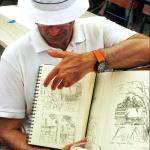 Unterwegs mit dem Skizzenbuch