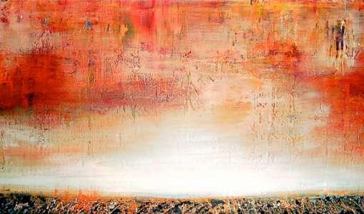 Abstrakte Landschaften in Acryl – gemalt und gespachtelt
