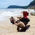 Fotografieren auf der Insel am Meer